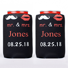 Mr. & Mrs. Personalized Can Cooler