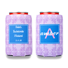 Lavender Vintage Personalized Can Cooler