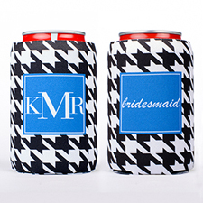 Hounds Tooth Personalized Can Cooler