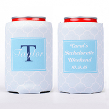 Aqua Clover Personalized Can Cooler