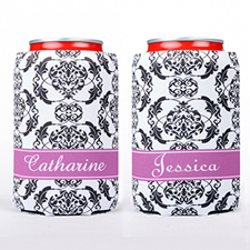 Floral Personalized Can Cooler