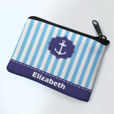 Ocean Anchor Personalized Coin Purse