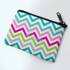 Girly Chevron Personalized Coin Purse