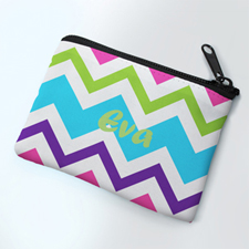 Chevron Party Personalized Coin Purse