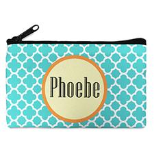 Aqua Clover Personalized Small Cosmetic Bag (4