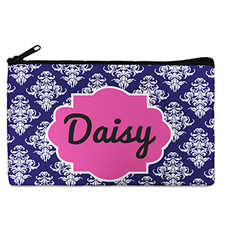Navy Vintage Personalized Cosmetic Bag