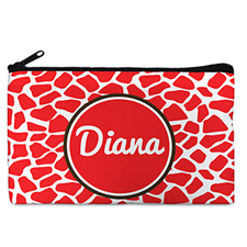 Red Leopard Personalized Cosmetic Bag