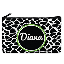 Black Leopard Personalized Cosmetic Bag