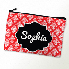 Red Vintage Personalized Cosmetic Bag
