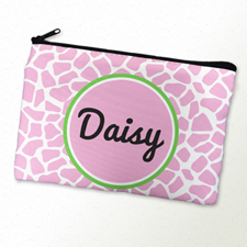 Pink Leopard Personalized Cosmetic Bag