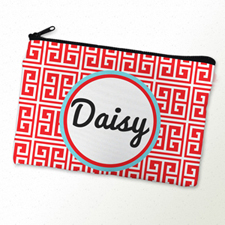 Red Stripe Personalized Cosmetic Bag