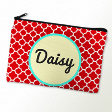 Red Clover Personalized Cosmetic Bag