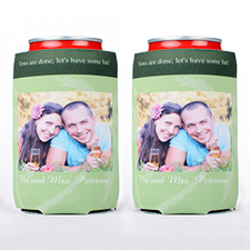 Palm Tree Photo Can Cooler