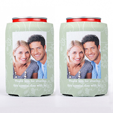 Floral Photo Can Cooler