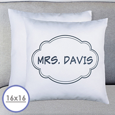 Black Frame Personalized Pillow Cushion Cover 16