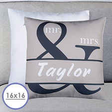 Mr. And Mrs. Personalized Name Pillow Cushion Cover 16