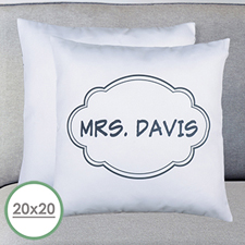 Black Frame Personalized Large Pillow Cushion Cover 20