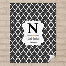 Quatrefoil Personalized Name Poster Print Small 8.5