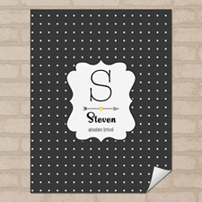 Dots Personalized Name Poster Print 8.5x11