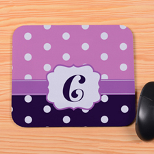 Create Your Own Purple & Plum Polka Dot Personalized Mouse Pad