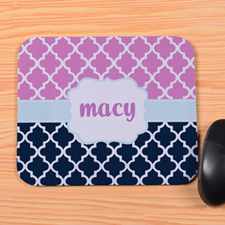Create Your Own Navy And Pink Clover Personalized Premium Mousepad