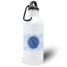 Blue Dots Personalized Water Bottle