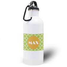 Lime Clover Personalized Water Bottle