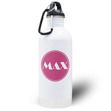 Personalized Name Pink Water Bottle