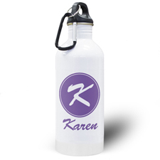 Personalized Name Purple Water Bottle