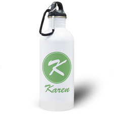 Personalized Name Green Water Bottle