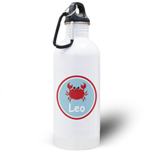 Crab Personalized Kids Water Bottle