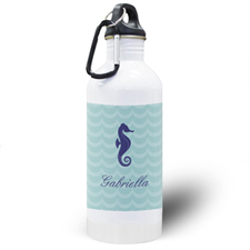Sea Horse Personalized Water Bottle