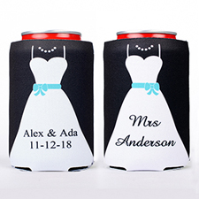 Bride Personalized Can Cooler