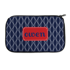 Navy Clover Personalized Neoprene Cosmetic Bag