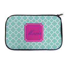 Aqua Clover Personalized Neoprene Cosmetic Bag
