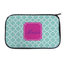 Aqua Clover Personalized Neoprene Cosmetic Bag