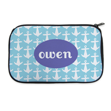 Aqua Anchor Personalized Neoprene Cosmetic Bag