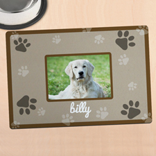 Brown Personalized Photo Meal Mat