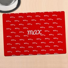 Red Kitty Personalized Meal Mat