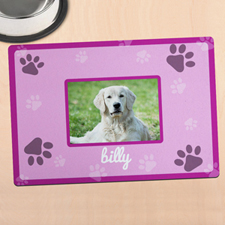 Pink Personalized Photo Meal Mat