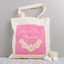 Floral Maid Of Honor Personalized Cotton Tote