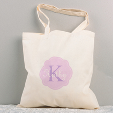 Lavender Personalized Cotton Tote