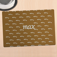 Brown Kitty Personalized Meal Mat