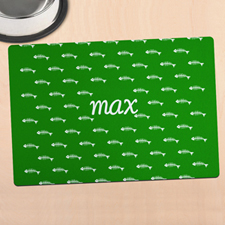 Green Kitty Personalized Meal Mat