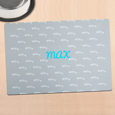 Grey Kitty Personalized Meal Mat