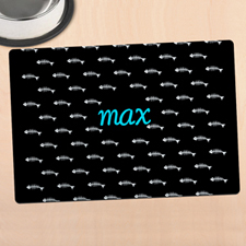 Black Kitty Personalized Meal Mat