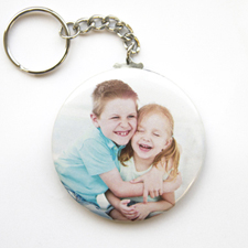 Photo Gallery Personalized Button Keychain