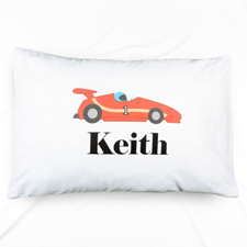 Race Car Personalized Name Pillowcase