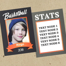 Basketball Personalized Photo Trading Cards  Set Of 12