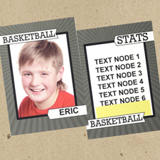 Basketball Hoop Personalized Photo Trading Cards  Set Of 12